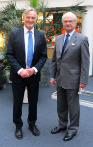 ChristerWallberg and the Swedish King Carl XVI Gustaf