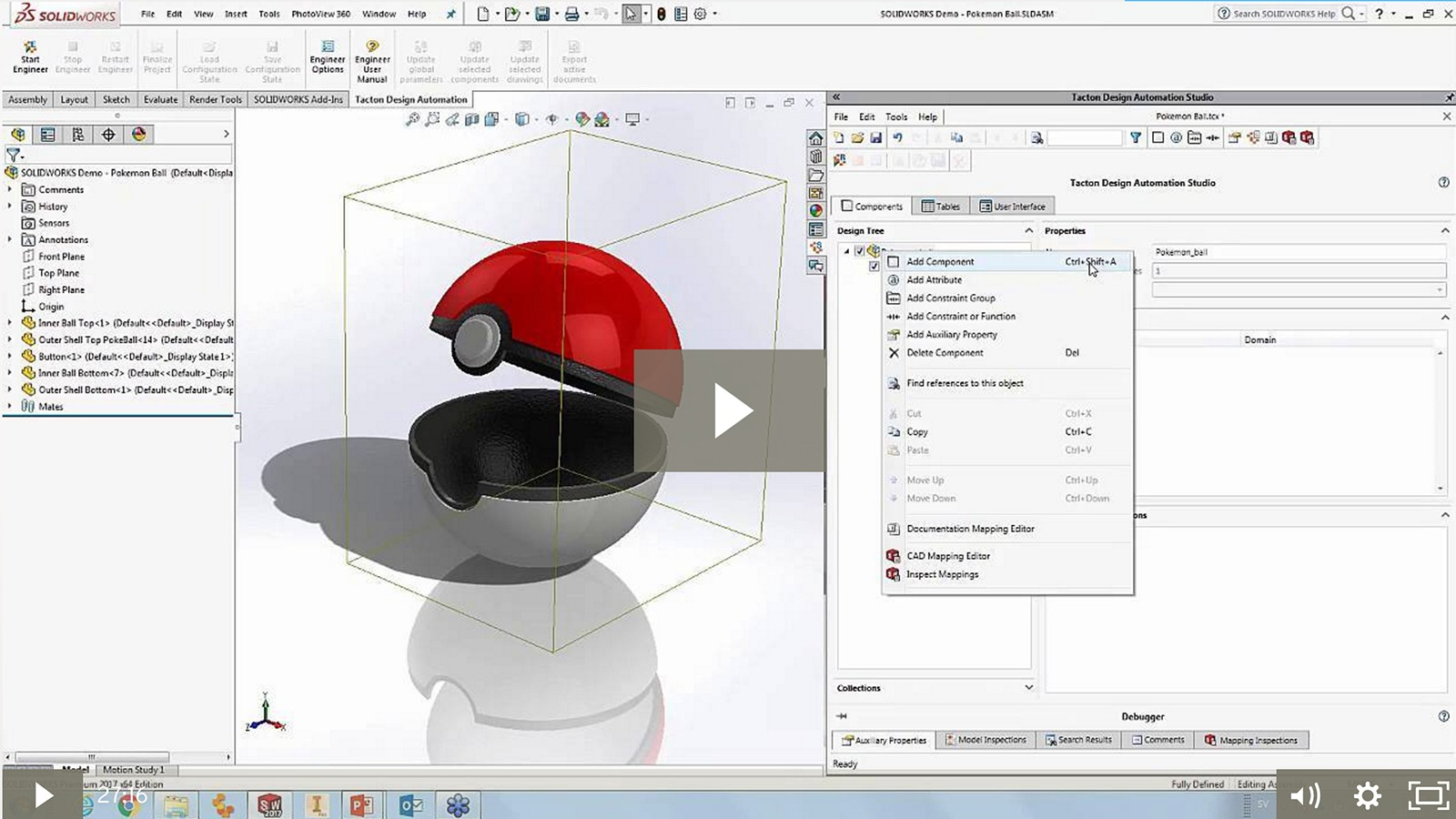 Introduction to Tacton Design Automation for SOLIDWORKS | Tacton