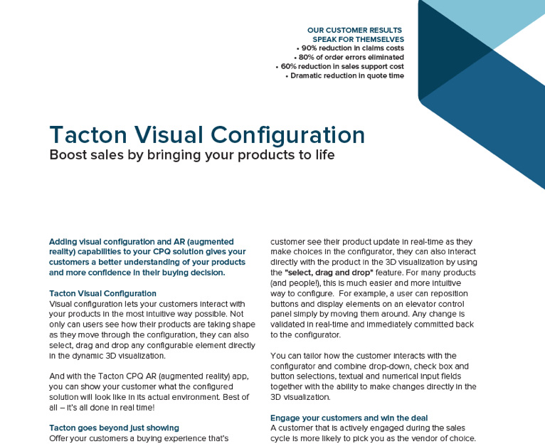 Tacton Visual Configuration