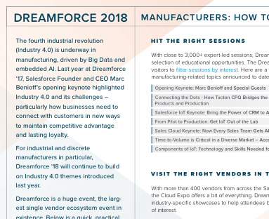 How to get the most out of Dreamforce 2018