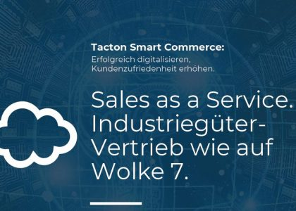Tacton Smart Commerce - Sales as a Service