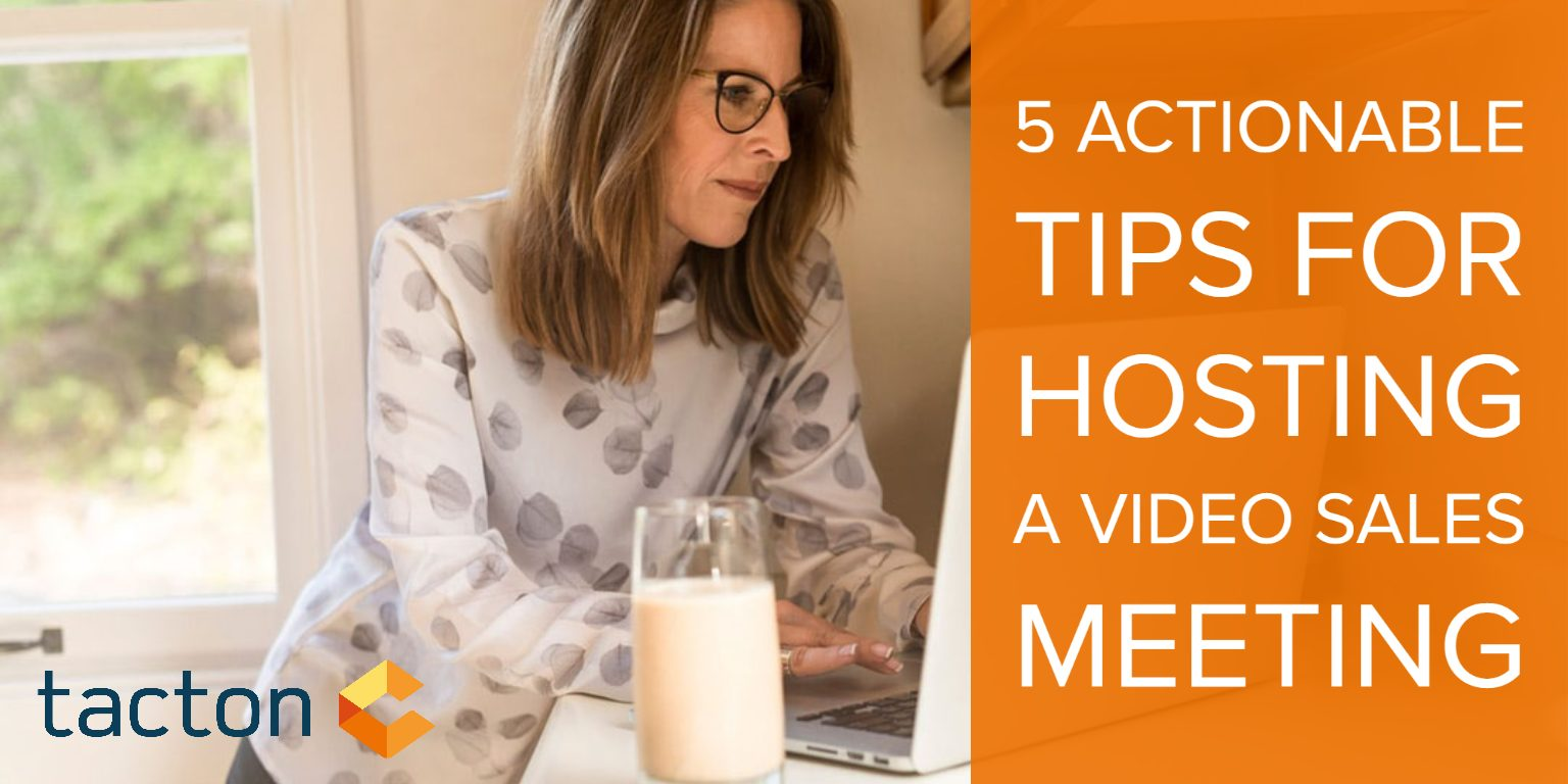 5 actionable tips for hosting a video sales meeting