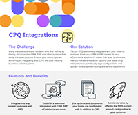 tacton cpq software integrations data sheet