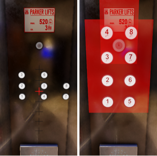 Elevator spatial placements and conflicts
