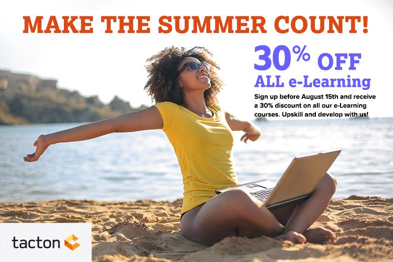 30% off all e-Learning. Sign up before August 15th.